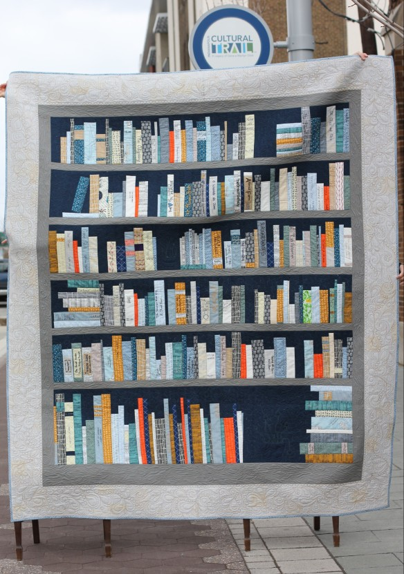 Indy Reads Bookshelf Quilt went to a good home.